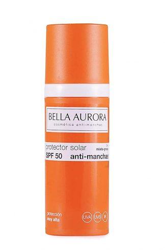 proteccion solar spf 50 anti manchas Bella Aurora
